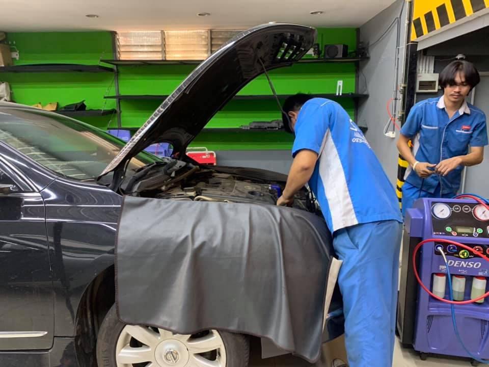 ซ่อมแอร์รถยนต์ NissanTeana