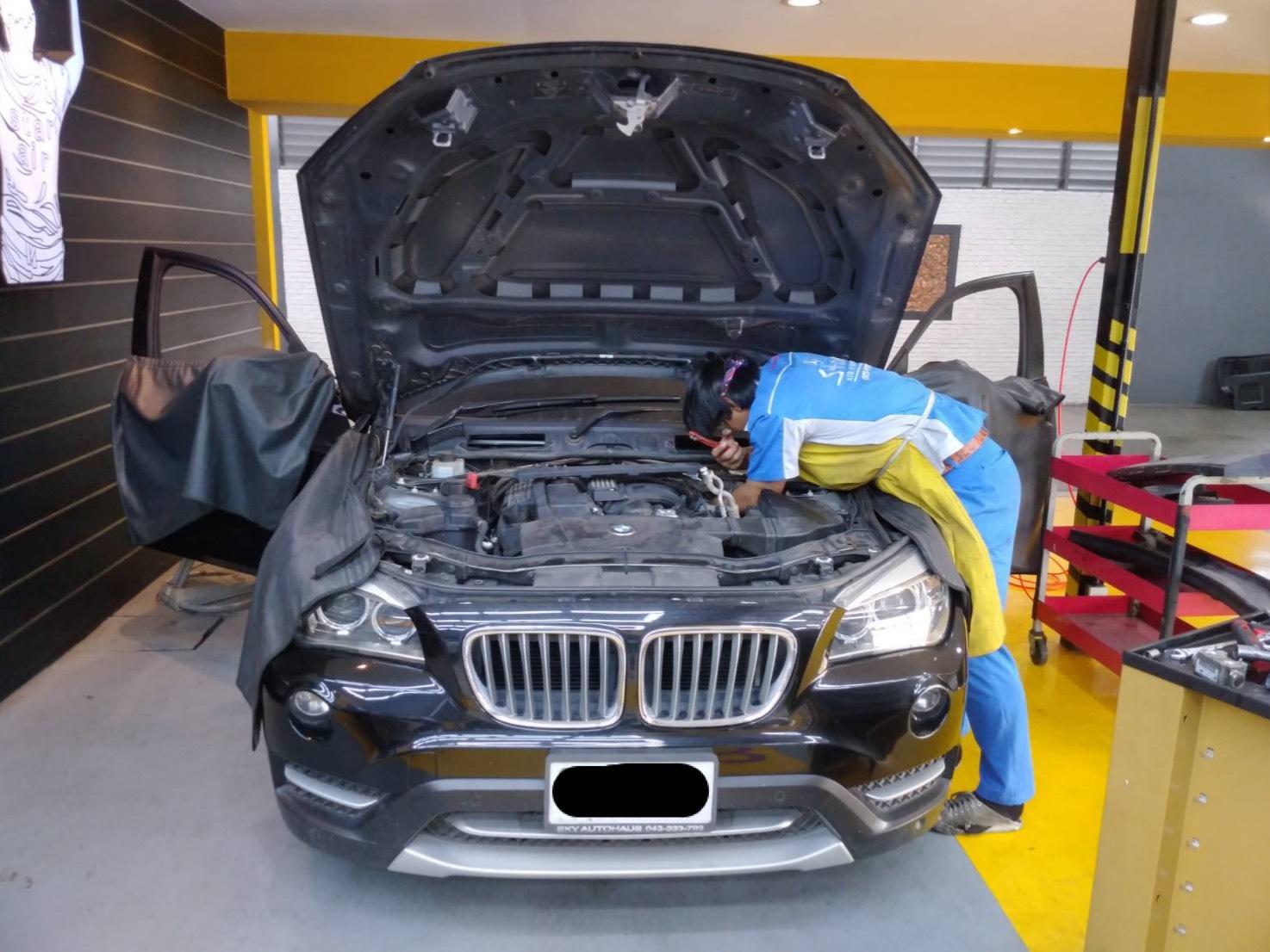 ซ่อมแอร์รถยนต์ BMW